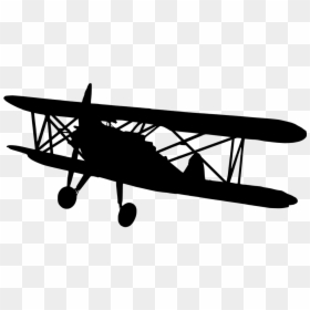 Silhouette Vintage Airplane Clipart Hd Png Download Vhv